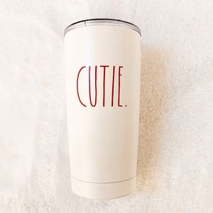 Rae Dunn CUTIE. White Insulated Stainless Steel